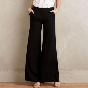 Anthropologie | Black Wide Leg Pants